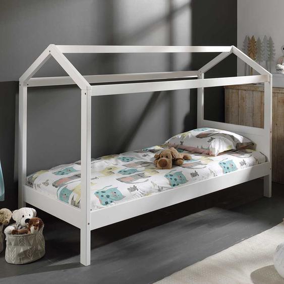 Hausbett in Weiß 145 cm hoch