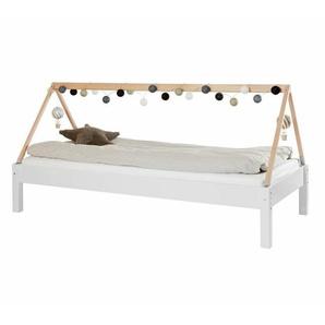 Hausbett Kids Town Basic, weiß, 90x160 cm