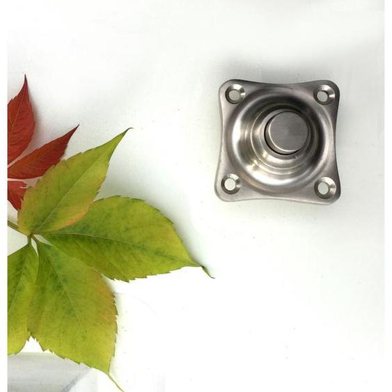 Haustür Schelle quadratisch - Klingel Nickel matt Türklingel Edelstahl Beschläge