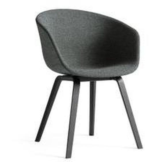 HAY - About A Chair AAC 23, Eiche schwarz gebeizt / Vollpolster Divina Melange (170)