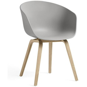 HAY Armlehnstuhl About A Chair AAC grau, Designer Hee Welling, 79x59x52 cm