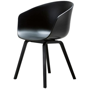 HAY Armlehnstuhl About A Chair AAC schwarz, Designer Hee Welling, 79x59x52 cm