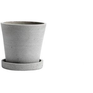 HAY - Blumentopf mit Untersetzer - grau - S
