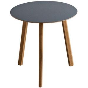 HAY - Copenhague Deux CPH 220 Tisch - Platte weiss - Gestell weiss - Ø 75 cm - indoor