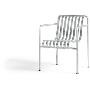 HAY - Palissade Dining Arm Chair - galvanized - outdoor