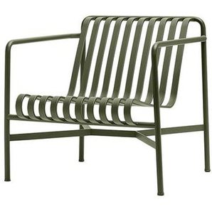 HAY - Palissade Lounge Chair Low - olive - outdoor