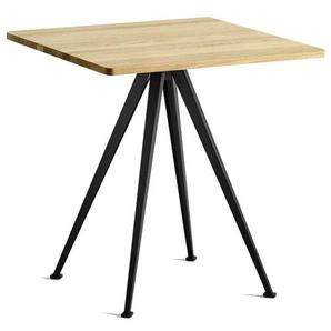 HAY - Pyramid Café Tisch 21 - Eiche klar lackiert - Gestell schwarz - indoor