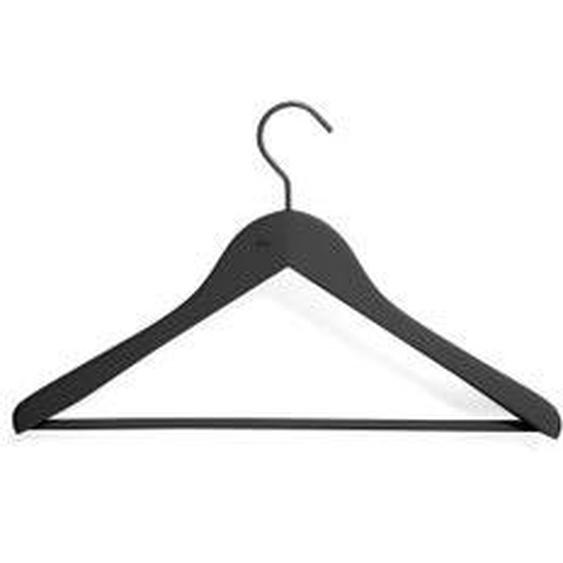 HAY - Soft Coat Kleiderbügel mit Steg, schwarz (4er-Set)