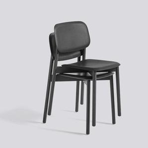 HAY - Soft Edge Wood Base Stuhl - Eiche scharz gebeizt - indoor