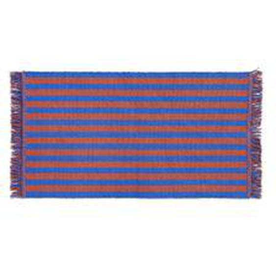 HAY - Stripes Fußmatte, 52 x 95 cm, cacao sky