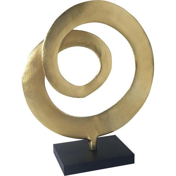 Heim INTERIOR & SEASONAL DESIGN Dekoobjekt B/H/T: 34 cm x 41 10 goldfarben Deko-Objekte Figuren Skulpturen Wohnaccessoires