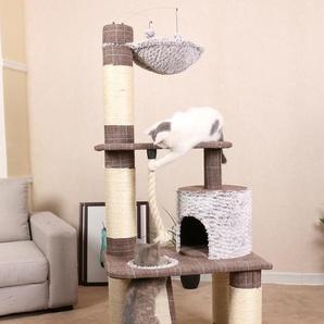 HEIM Kratzbaum Schottland III, hoch, BxTxH: 69x49x157 cm B/H/T: 69 x 157 49 braun Kratz- Kletterbäume Katze Tierbedarf