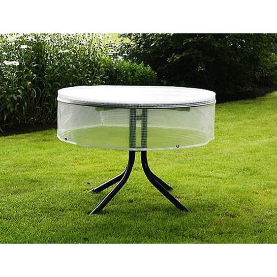 Heinemeyer Schutzhülle 120cm für runde Tische, Poly-Gitter-Folie transparent Weiß