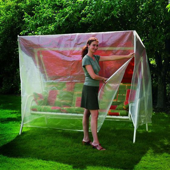 Heinemeyer Schutzhülle 215cm breit für Hollywoodschaukel Gitterfolie Weiß