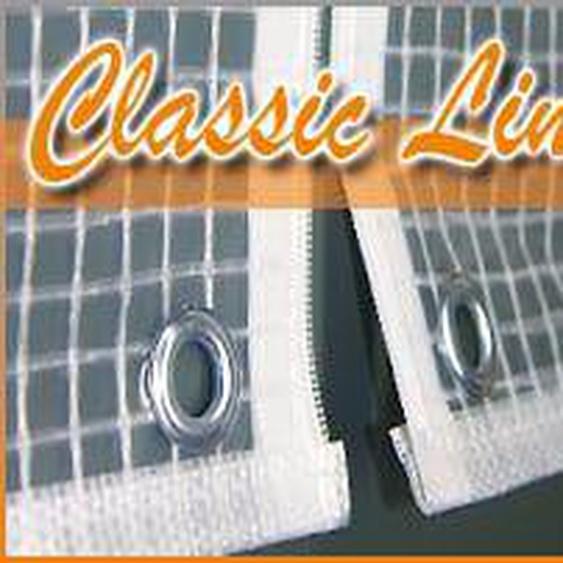 Heinemeyer Schutzhülle Ø120cm für Tische Poly-Gitter-Folie Weiß