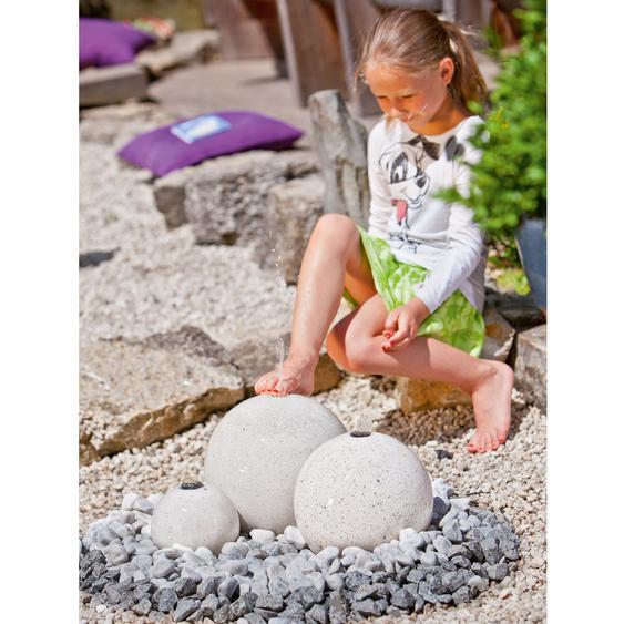 Heissner Gartenbrunnen-Set Samoa mit LED aus Terrazzo