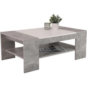 HELA Couchtisch, mit Einlageplatte B/H/T: 111 cm x 44 67 cm, Einlegeplatte grau Couchtisch Couchtische Tische Möbel sofort lieferbar
