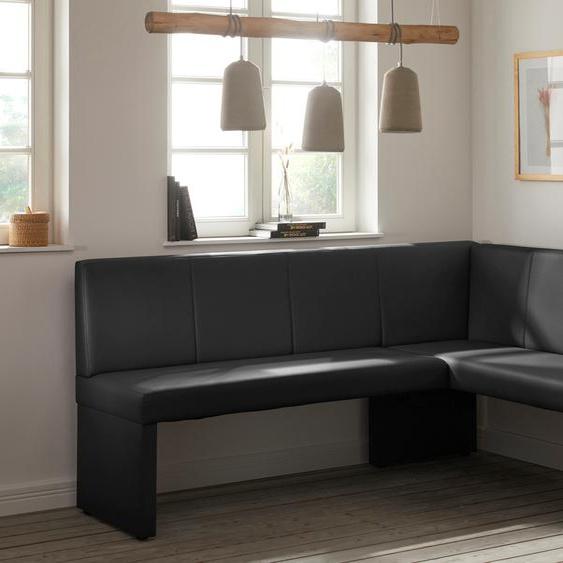 HELA Eckbank Marta, Breite 200 cm Kunstleder, Schenkel links schwarz Eckbänke Sitzbänke Stühle