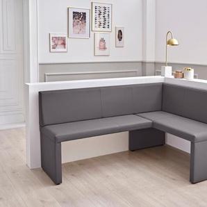 HELA Eckbank Tanja, Breite 168 cm Kunstleder, Schenkel links grau Eckbänke Sitzbänke Stühle