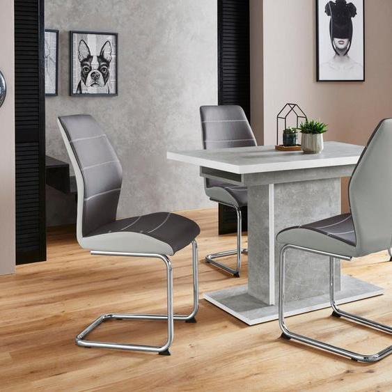 HELA Essgruppe »Alice G«, (Set, 5-tlg), bestehend aus 4 Ornella Stühlen ohne Armlehne und dem Alice Esstisch mit Auszugsfunktion