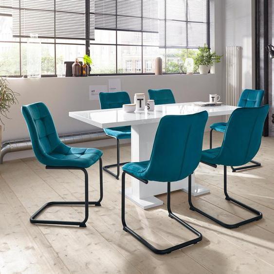 HELA Essgruppe »JENNY«, (Set, 5-St), bestehend aus einem ausziehbaren Tisch und 4 Stühlen
