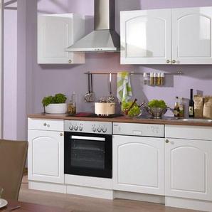 HELD Küchenzeile »Boston«, B 220 cm, mit Elektrogeräten, aus MDF, 28 mm Arbeitsplatte