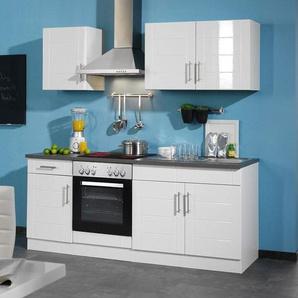 HELD Küchenzeile »Nevada«, B 210 cm, mit Elektrogeräten, aus MDF, 28 mm Arbeitsplatte