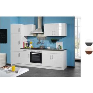 HELD Küchenzeile »Nevada«, B 270 cm, mit Elektrogeräten, aus MDF, 28 mm Arbeitsplatte