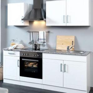 HELD Küchenzeile »Varel «, B 210 cm, mit Elektrogeräten, aus MDF, Selbstmontage