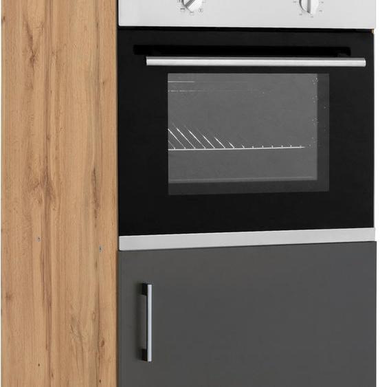 HELD MÖBEL Backofen/Kühlumbauschrank Colmar, 60 cm breit, 165 hoch, geeignet für Einbaukühlschrank und Einbaubackofen B/H/T: x grau Umbauschränke Küchenschränke Küchenmöbel