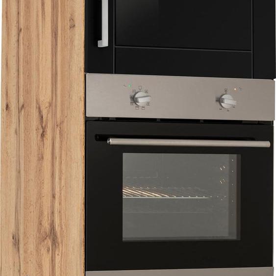 HELD MÖBEL Backofen/Kühlumbauschrank Tinnum 60 x 200 (B H T) cm schwarz Umbauschränke Küchenschränke Küchenmöbel Schränke