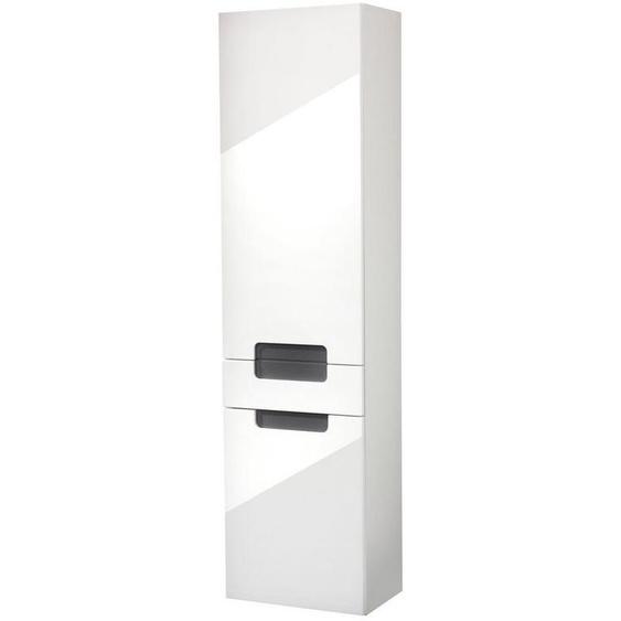 HELD MÖBEL Hochschrank »Siena« Breite 40 cm, mit hochglänzenden Fronten in weiß
