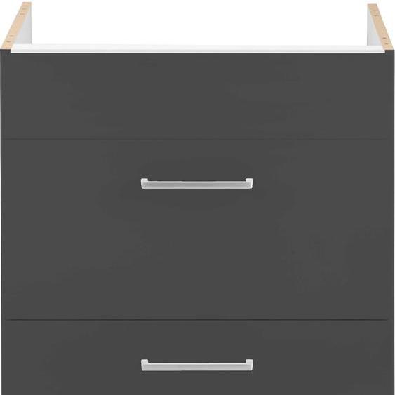 HELD MÖBEL Kochfeldumbauschrank Kehl, ohne Arbeitsplatte B/H/T: 60 cm x 82 grau Umbauschränke Küchenschränke Küchenmöbel