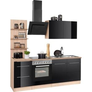 HELD MÖBEL Küchenzeile »Brindisi«, mit E-Geräten, Breite 210 cm