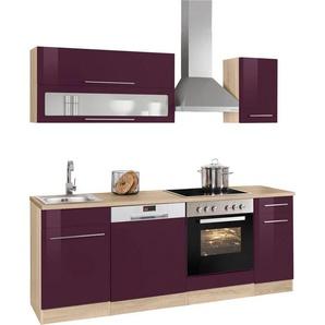 HELD MÖBEL Küchenzeile mit E-Geräten »Eton«, Breite 210 cm