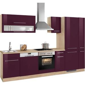 HELD MÖBEL Küchenzeile mit E-Geräten »Eton«, Breite 300 cm