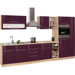 HELD MÖBEL Küchenzeile mit E-Geräten »Eton«, Breite 330 cm