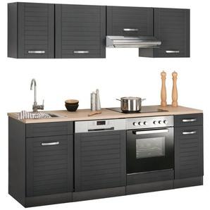 HELD MÖBEL Küchenzeile »Falun« mit E-Geräten, Breite 210 cm mit Fräsungen in den Fronten