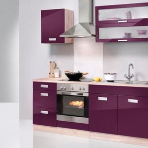 HELD MÖBEL Küchenzeile »Fulda«, mit E-Geräten, Breite 210 cm