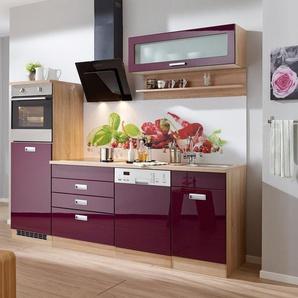 HELD MÖBEL Küchenzeile »Fulda«, mit E-Geräten, Breite 250 cm