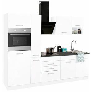 HELD MÖBEL Küchenzeile mit E-Geräten »Haiti«, Breite 250 cm