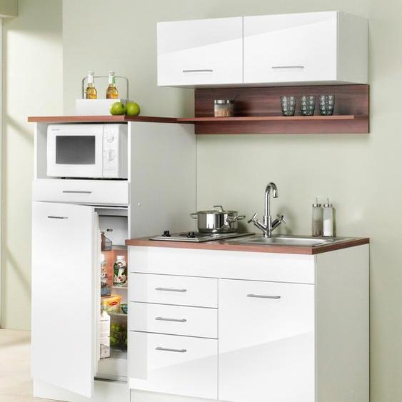 HELD MÖBEL Küchenzeile Monaco, Breite 160 cm Kühlschrank: F (A bis G) B: weiß Montana Küchenserien Küchenmöbel