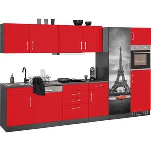 HELD MÖBEL Küchenzeile »Paris«, mit E-Geräten, Breite 340 cm, wahlweise mit Induktionskochfeld