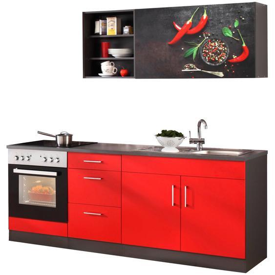 HELD MÖBEL Küchenzeile »Paris«, ohne E-Geräte, Breite 210 cm