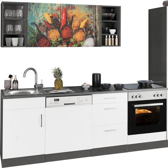 HELD MÖBEL Küchenzeile »Paris«, ohne E-Geräte, Breite 280 cm