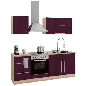HELD MÖBEL Küchenzeile »Samos«, mit E-Geräten, Breite 210 cm mit Stangengriffen aus Metall