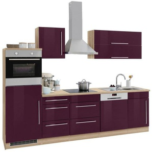 HELD MÖBEL Küchenzeile »Samos« mit E-Geräten, Breite 280 cm