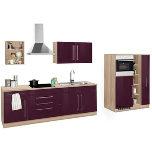 HELD MÖBEL Küchenzeile »Samos«, mit E-Geräten, Breite 350 cm