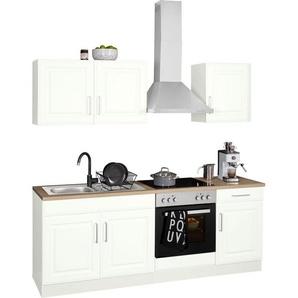HELD MÖBEL Küchenzeile »Stockholm«, ohne E-Geräte, Breite 210 cm, mit hochwertigen MDF Fronten im Landhaus-Stil