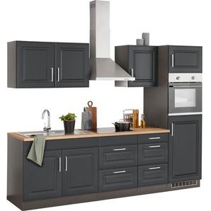 HELD MÖBEL Küchenzeile »Stockholm«, ohne E-Geräte, Breite 270 cm, mit hochwertigen MDF Fronten im Landhaus-Stil